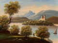 Fine Art - Painting, American:Antique  (Pre 1900), American School (19th Century). Hudson River View withSailboats. Oil on canvas. 23-1/4 x 31-1/4 inches (59.1 x 79.4cm)...