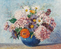 Paintings, Walter Taylor (British, 1875-1965). Still Life with Flowers. Oil on board. 16 x 20 inches (40.6 x 50.8 cm). Signed on ba...