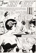 """Original Comic Art:Complete Story, Don Heck Love Romances #103 """"From Nine To Five!"""" Complete6-Page Story Original Art (Marvel Comics, 1963).... (Total: 6Original Art)"""