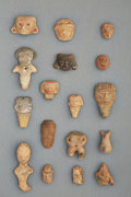 Pre-Columbian:Ceramics, Seventeen Pre-Columbian Small Heads and Figures...