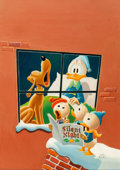 "Original Comic Art:Paintings, Carl Barks ""Christmas Carolers"" Painting CB Oil #20 Original Art (1972)...."