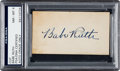 Baseball Collectibles:Others, 1940's Babe Ruth Signed Blank Business Card, PSA/DNA NM-MT 8....