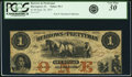 Obsoletes By State:Iowa, Davenport, IA- Burrows and Prettyman $1 Sep. 26, 1857 Oakes 32-1(2015) PCGS Very Fine 30.. ...