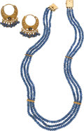 Estate Jewelry:Suites, Sapphire, Gold Jewelry. ... (Total: 2 Items)