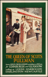 "Queen of Scots Pullman (Pullman, 1930s). British Travel Poster (25"" X 40"") Speptimus E. Scott Artwork. Miscell..."