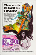 "Movie Posters:Exploitation, Psych-Out (American International, 1968). Folded, Very Fine. OneSheet (27"" X 41""). Exploitation.. ..."
