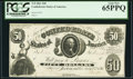 Confederate Notes:1861 Issues, T8 $50 1861 PF-7 Cr. 19 PCGS Gem New 65PPQ.. ...