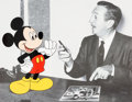 "Animation Art:Seriograph, ""Making Magic Together"" Walt Disney with Mickey Mouse Cast MemberExclusive Sericel (Walt Disney, 1998)...."