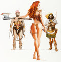 Original Comic Art:Paintings, Jim Silke - Red Sonja and Thieves Painting Original Art (2000)....