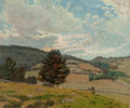 Fine Art - Painting, American, Ben Foster (American, 1852-1926). A Clear Day. Oil oncanvas. 25 x 30 inches (63.5 x 76.2 cm). Signed lower left: Ben...