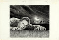 "Movie Posters:Thriller, Escape from Alcatraz by Victor Gadino (Paramount, 1979). SignedOriginal Graphite Drawing on Illustration Board (15"" X 22) ..."