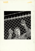 "Movie Posters:Thriller, Escape from Alcatraz by Victor Gadino (Paramount, 1979). Signed Original Graphite Drawing on Illustration Board (15"" X 19"")...."