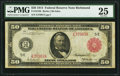 Large Size:Federal Reserve Notes, Fr. 1016b $50 1914 Red Seal Federal Reserve Note PMG Very Fine 25.. ...