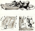 """Original Comic Art:Complete Story, Jack Davis MAD #30 Complete 2-Page Story """"MAD Builds AMore Civilized Mouse Trap"""" Original Art (EC, 19... (Total: 2Original Art)"""