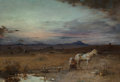 Fine Art - Painting, European, Gustave Achille Guillaumet (French, 1840-1887). Soir d'hiver,Maroc, 1869. Oil on canvas laid on Masonite. 46 x ...