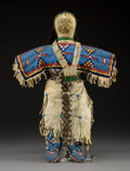 American Indian Art:Beadwork and Quillwork, A Sioux Beaded Hide Doll...