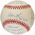 "Autographs:Baseballs, Earvin ""Magic"" Johnson Single Signed Stat Baseball with 16Inscriptions, Limited Edition 0235/1000...."