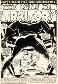 Original Comic Art:Splash Pages, Gene Colan and Wally Wood Captain America #127 Splash Page 1 Original Art (Marvel, 1970)....