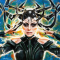 Original Comic Art:Paintings, Olivia (Olivia De Berardinis) - Hela (Cate Blanchett) from Thor:Ragnarok Painting Original Art (2017)....