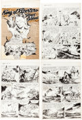 Original Comic Art:Panel Pages, Jack Sparling, Edd Ashe, and Others True Comics #75 PartialStories Lot of 7 Pages (Parents' Magazine Press, 1949)... (Total: 7Original Art)