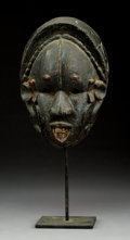 Tribal Art, A Very Old Face Mask, Ibo People, Eastern Nigeria...