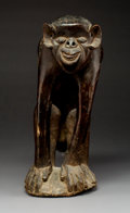 Tribal Art, A Large Seated Monkey, Africa F...