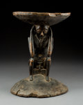 Tribal Art, A Pende Stool  Wood with patina from exten...
