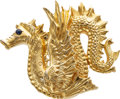 Estate Jewelry:Brooches - Pins, Sapphire, Gold Brooch, MMA. ...