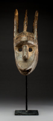 A Zoomorphic Mask, Probably Representing a Hare, Bamana People, Mali