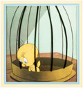 Animation Art:Production Cel, Sandy Claws Tweety Production Cel and Animation Drawings Group of 3 (Warner Brothers, 1955/c. 1960s-80s).... (Total: 3 Items)