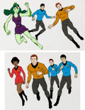 Animation Art:Production Cel, Star Trek Multi-Character Production Cels Group of 2 (Filmation, 1973).... (Total: 2 Items)