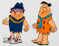 Animation Art:Color Model, The Flintstones Fruity Pebbles Commercial Fred and Barney Color Model Cel and Animation Drawing (Hanna-Barbera, 1992).... (Total: 2 Items)