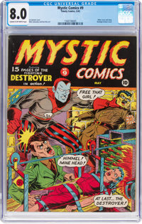 Mystic Comics #9 (Timely, 1942) CGC VF 8.0 Cream to off-white pages