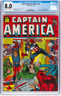 Golden Age (1938-1955):Superhero, Captain America Comics #10 (Timely, 1942) CGC VF 8.0 Cream to off-white pages....
