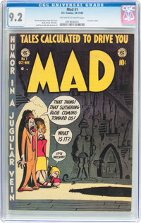MAD #1 (EC, 1952) CGC NM- 9.2 Off-white to white pages
