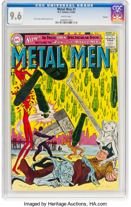 Metal Men #1 Curator Pedigree (DC, 1963) CGC NM+ 9.6 White pages....