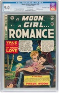 "Golden Age (1938-1955):Romance, A Moon, A Girl...Romance #12 Davis Crippen (""D"" Copy) Pedigree (EC,1950) CGC VF/NM 9.0 Off-white pages...."
