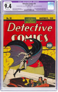 Detective Comics #33 (DC, 1939) CGC Apparent NM 9.4 Extensive (A-5) Off-white pages