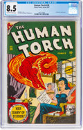 Golden Age (1938-1955):Superhero, The Human Torch #26 (Timely, 1947) CGC VF+ 8.5 Off-white to white pages....