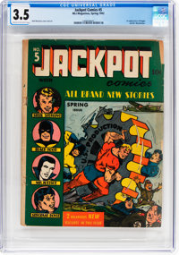 Jackpot Comics #5 (MLJ, 1942) CGC VG- 3.5 Cream to off-white pages