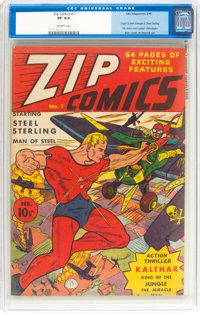 Zip Comics #1 (MLJ, 1940) CGC VF 8.0 Off-white pages