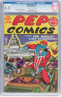 Pep Comics #4 (MLJ, 1940) CGC VF 8.0 Off-white to white pages