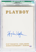 Magazines:Miscellaneous, Playboy V16#1 Signed by Hugh Hefner (HMH Publishing, 1969) CGC Qualified VF/NM 9.0 Off-white to white pages....