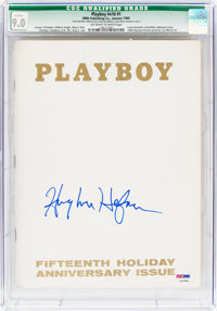 Playboy V16#1 Signed by Hugh Hefner (HMH Publishing, 1969) CGC Qualified VF/NM 9.0 Off-white to white pages