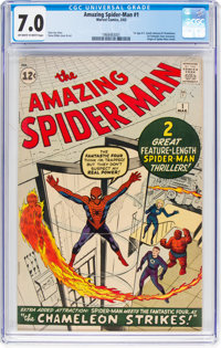 The Amazing Spider-Man #1 (Marvel, 1963) CGC FN/VF 7.0 Off-white to white pages