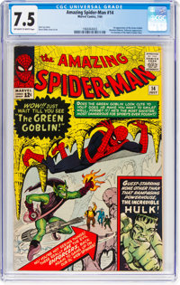 The Amazing Spider-Man #14 (Marvel, 1964) CGC VF- 7.5 Off-white to white pages