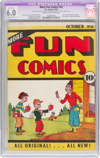 More Fun Comics #14 (DC, 1936) CGC Apparent FN 6.0 Moderate (P) Cream to off-white pages