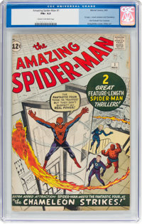 The Amazing Spider-Man #1 (Marvel, 1963) CGC FN+ 6.5 Cream to off-white pages