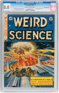 Golden Age (1938-1955):Science Fiction, Weird Science #18 Gaines File Pedigree 11/12 (EC, 1953) CGC VF 8.0 Off-white to white pages....