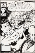 Original Comic Art:Covers, Klaus Janson The Punisher #3 Cover Original Art (Marvel,1987)....